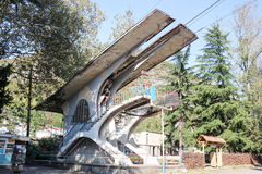 Torre della cabina di funivia Fotografie Stock