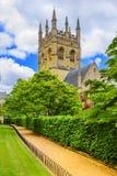 Torre della cappella dell'istituto universitario di Merton Università di Oxford, Oxford, Engla Fotografia Stock Libera da Diritti