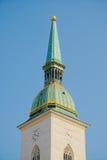 Torre della cattedrale del ` s di St Martin, Bratislava Fotografia Stock