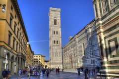 Torre della cattedrale di Firenze, Italia Fotografia Stock Libera da Diritti