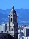 Torre della cattedrale di Malaga fotografia stock libera da diritti