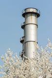 Torre della centrale elettrica del carbone Immagini Stock Libere da Diritti