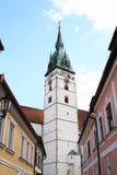 Torre della chiesa del presupposto Immagini Stock Libere da Diritti
