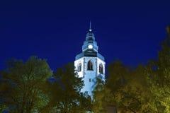 Torre della chiesa di St Martins in Ettlingen Fotografie Stock Libere da Diritti