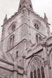 Torre della chiesa di trinità santa; Stratford Upon Avon; L'Inghilterra; Il Regno Unito Fotografia Stock Libera da Diritti