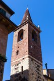 Torre della chiesa evangelica di Waldensian di Verona fotografie stock