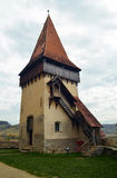 Torre della chiesa medievale Fotografia Stock