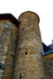 Torre della chiesa medievale fortificata in Malancrav, la Transilvania Immagini Stock Libere da Diritti