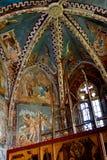 Torre della chiesa medievale fortificata in Malancrav, la Transilvania Fotografia Stock Libera da Diritti