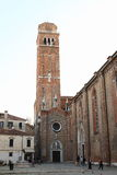 Torre della chiesa a Venezia Fotografie Stock