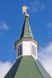 Torre della cupola del monastero di Iversky in Valday Fotografia Stock