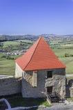 Torre della fortezza, cittadella di Rupea fotografia stock