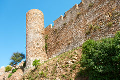 Torre della fortezza in Costa Brava Spagna di Tossa de Mar Fotografie Stock Libere da Diritti