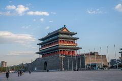 Torre della freccia di Zhengyangmen della piazza Tiananmen di Pechino Immagine Stock Libera da Diritti