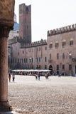 Torre della Gabbia and Palazzo Bonacolsi in Mantua Royalty Free Stock Photo