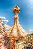 Torre della lampadina sul tetto della casa Batllo, Barcellona, Catalogna, Spai Fotografia Stock Libera da Diritti