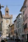 Torre della Pallata i Brescia, Italien Arkivfoto