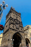 Torre della polvere a Praga - repubblica Ceca Fotografie Stock Libere da Diritti