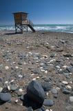 Torre della spiaggia e del bagnino del Cipro Immagini Stock Libere da Diritti
