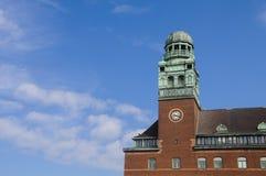 Torre della stazione ferroviaria di Malmo immagine stock