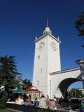 Torre della stazione ferroviaria di Simferopoli Immagine Stock