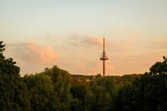 Torre della televisione Fotografie Stock Libere da Diritti