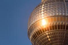 Torre della televisione di Berlino (Fernsehturm), Fotografie Stock