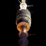 Torre della televisione di Ostankino Fotografia Stock