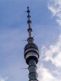 Torre della televisione di Ostankino - trasmettitori Fotografia Stock Libera da Diritti
