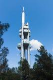 Torre della televisione di Praga Zizkov Fotografia Stock Libera da Diritti