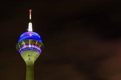 Torre della televisione a Dusseldorf Fotografie Stock Libere da Diritti