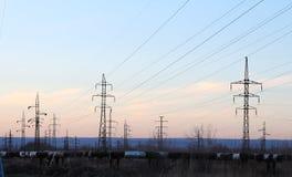 Torre della trasmissione immagini stock libere da diritti