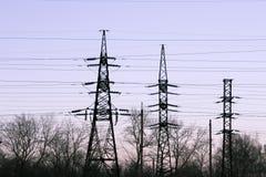 Torre della trasmissione fotografia stock