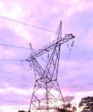 Torre della trasmissione 133 chilovolt Fotografie Stock Libere da Diritti