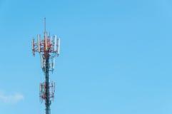 Torre della trasmissione radio Fotografia Stock Libera da Diritti