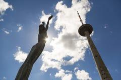 Torre della TV a Vilnius, Lituania La struttura più alta in Lituania Fotografie Stock Libere da Diritti