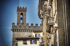 Torre della Volognana in Florence in hdr Stock Images