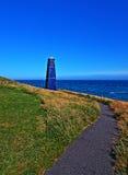 Torre della zappa di Samphire lungo il Ciiffs bianco della linea costiera di Dover Fotografie Stock Libere da Diritti