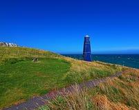 Torre della zappa di Samphire lungo il Ciiffs bianco della linea costiera di Dover Immagine Stock