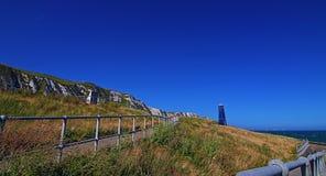 Torre della zappa di Samphire lungo il Ciiffs bianco della linea costiera di Dover Fotografia Stock