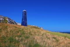 Torre della zappa di Samphire lungo il Ciiffs bianco della linea costiera di Dover Fotografia Stock Libera da Diritti
