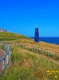 Torre della zappa di Samphire lungo il Ciiffs bianco della linea costiera di Dover Immagine Stock Libera da Diritti