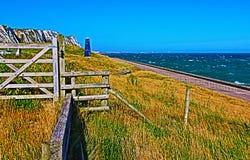 Torre della zappa di Samphire lungo il Ciiffs bianco della linea costiera di Dover Immagini Stock Libere da Diritti