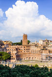 The Torre delle Milizie and the Trajan Forum Stock Photography
