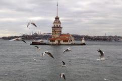 Torre delle ragazze a Costantinopoli Fotografia Stock