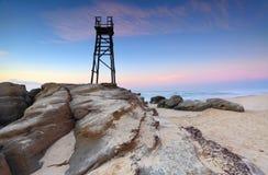 Torre dello squalo alla spiaggia della testarossa Fotografia Stock