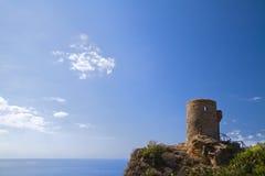 Torre des-kyrkvaktmästare Mallorca Arkivfoto