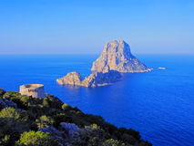 Famous tower of Savinar on Ibiza Island Royalty Free Stock Photo