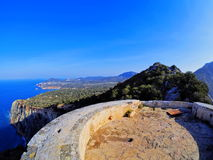 Famous tower of Savinar on Ibiza Island Stock Photography