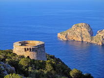 Famous tower of Savinar on Ibiza Island Royalty Free Stock Photography